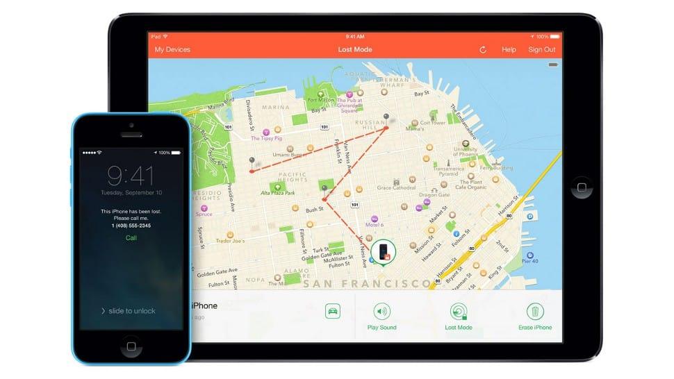 ipad rastreando iphone por meio do aplicativo buscar