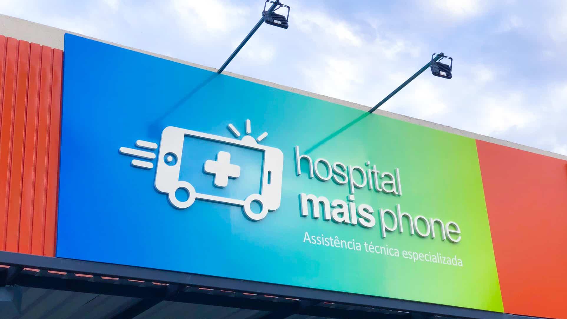 fachada da loja do hospital mais phone em goiania